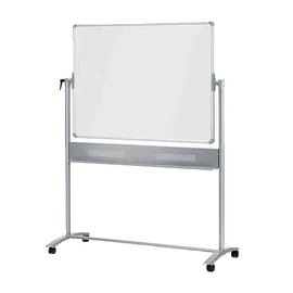 Mobile Stativ-Drehtafel 120x90cm grauer Filz + weiß lackiert Nobo 1901043 Produktbild