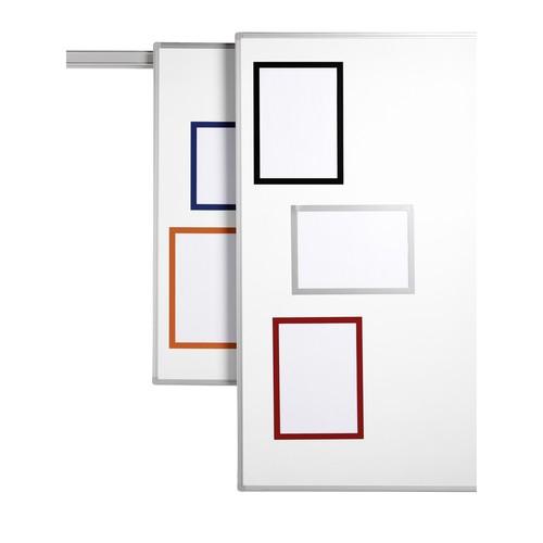 Magnetrahmen A4 transparent/silber magnetisch Durable 4869-23 (PACK=5 STÜCK) Produktbild Additional View 1 L
