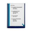 Türschild CLICK SIGN A4 210x297mm dunkelblau kunststoff Druable 4867-07 Produktbild