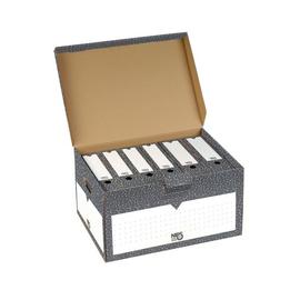 Klappdeckel-Container 555x 380x295mm anthrazit/weiß Nips 152591124 Produktbild