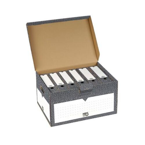 Klappdeckel-Container 555x 380x295mm anthrazit/weiß Nips 152591124 Produktbild Front View L