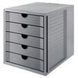 Schubladenbox Öko 5 Schübe 275x320x330mm Gehäuse grau Schübe grau Kunststoff HAN 14508-18 Produktbild