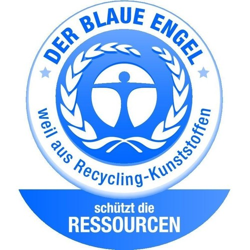 Schubladenbox Öko 5 Schübe 275x320x330mm Gehäuse grau Schübe blau Kunststoff HAN 14508-16 Produktbild Additional View 3 L