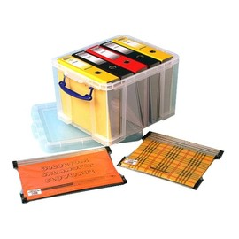 Aufbewahrungsbox mit Deckel 48,5x38,5x31cm 35Liter transparent Really Useful 35C Produktbild