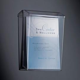 Outdoor Prospekthalter acrylic Fülltiefe 60mm glasklar Acryl Sigel LH325 Produktbild