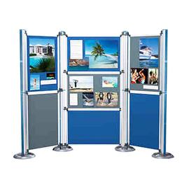 Filzpaneel A0 für Multifunktionswand Modular 880x1180x12mm blau/grau Nobo 1902218 Produktbild