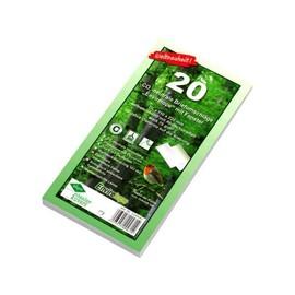 Briefumschlag ENVIRELOPE mit Fenster DIN lang 110x220mm mit Haftklebung 80g hochweiß Recycling 103 ISO (PACK=20 STÜCK) Produktbild