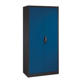 Flügeltürenschrank Korpus anthrazit Türen enzianblau C+P 9260-000-7021-5010 Produktbild