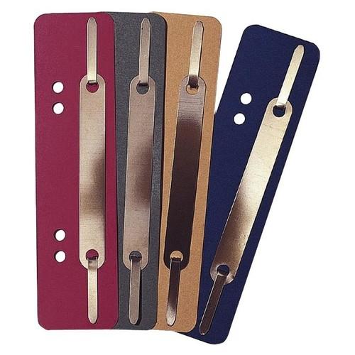 Einhänge-Heftstreifen kurz mit Metall-Deckschiene 35x158mm rot Karton (PACK=25 STÜCK) Produktbild Additional View 1 L