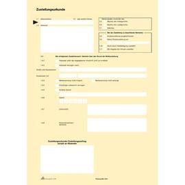 Postzustellungsurkunde A4 gelb RNK 2046 (PACK=100 STÜCK) Produktbild