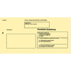 Postzustellungsbriefumschlag ohne Fenster für innen DIN lang 110x220mm gelb RNK 2045 (PACK=100 STÜCK) Produktbild