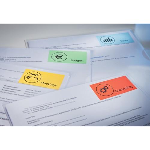 Etiketten Inkjet+Laser+Kopier 105x37mm auf A4 Bögen blau Zweckform 3453 (PACK=1600 STÜCK) Produktbild Additional View 3 L