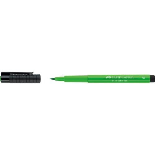 Tuschestift PITT ARTIST PEN 1,0mm breit laubgrün Faber Castell 167412 Produktbild Front View L