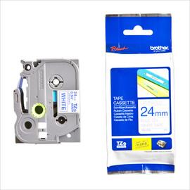 Schriftband laminiert 24mm/8m blau auf weiß Brother TZe-253 (ST=8 METER) Produktbild