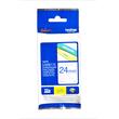 Schriftband laminiert 24mm/8m blau auf weiß Brother TZe-253 (ST=8 METER) Produktbild Additional View 1 S
