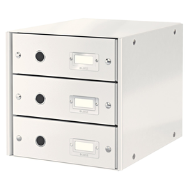 Schubladenbox Click&Store 3 Schübe 290x283x360mm weiß Hartpappe Leitz 6048-00-01 Produktbild