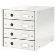 Schubladenbox Click&Store 4 Schübe 290x283x360mm weiß Hartpappe Leitz 6049-00-01 Produktbild