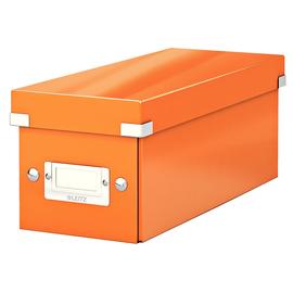 CD Ablagebox Click & Store 143x352x153mm orange Graukarton Leitz 6041-00-44 Produktbild