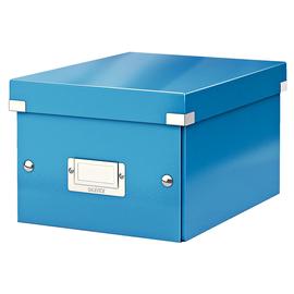 Archivbox WOW Click & Store 220x160x282mm blau metallic Leitz 6043-00-36 Produktbild