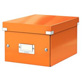 Archivbox WOW Click & Store 220x160x282mm orange metallic Leitz 6043-00-44 Produktbild