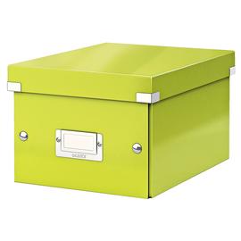 Archivbox WOW Click & Store 220x160x282mm grün metallic Leitz 6043-00-64 Produktbild