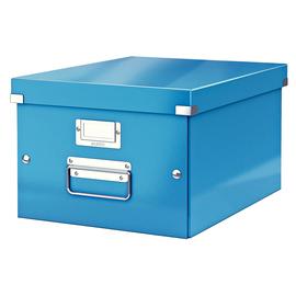 Archivbox WOW Click & Store 281x200x370mm blau metallic Leitz 6044-00-36 Produktbild