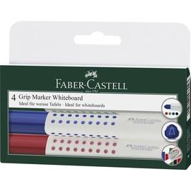 Whiteboardmarker Grip Etui 1,5-3mm Rundspitze sortiert trocken abwischbar Faber Castell 158304 Produktbild