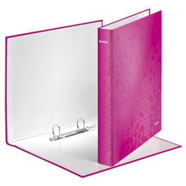 Ringbuch WOW A4 Überbreite 2Ringe Ringe-Ø25mm bis 250Blatt pink metallic Graupappe Leitz 4241-00-23 Produktbild