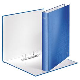 Ringbuch WOW A4 Überbreite 2Ringe Ringe-Ø25mm bis 250Blatt blau metallic Graupappe Leitz 4241-00-36 Produktbild
