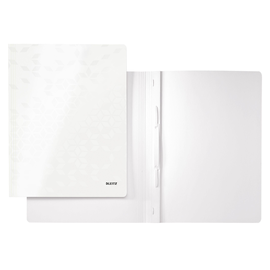 Schnellhefter WOW A4 perlweiss PP-laminierter Karton Leitz 3001-00-01 Produktbild
