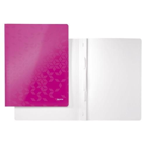 Schnellhefter WOW A4 pink metallic PP-laminierter Karton Leitz 3001-00-23 Produktbild Front View L