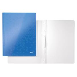 Schnellhefter WOW A4 blau metallic PP-laminierter Karton Leitz 3001-00-36 Produktbild