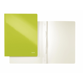 Schnellhefter WOW A4 grün metallic PP-laminierter Karton Leitz 3001-00-64 Produktbild