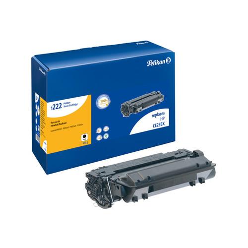 Toner Gr. 1222HC (CE255X) für Laserjet P3010/P3015 12500Seiten schwarz Pelikan 4211910 Produktbild Front View L