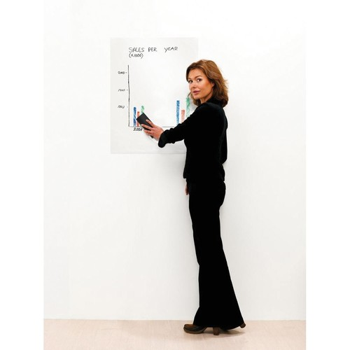 Magic Chart Whiteboard Folienrolle 60x80cm weiß blanko Legamaster 7-159100 (PACK=25 STÜCK) Produktbild Additional View 1 L