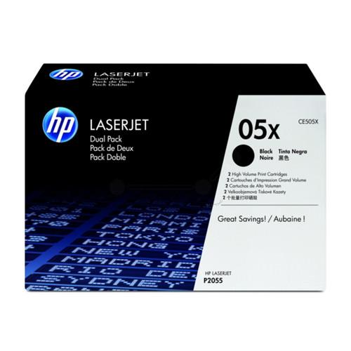 Toner 05XD für LaserJet P2055 2x6500Seiten schwarz HP CE505XD (PACK=2 STÜCK) Produktbild Front View L