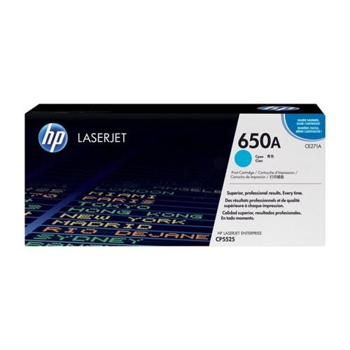 Toner 650A für HP Color Laserjet CP5525 15000 Seiten cyan HP CE271A Produktbild Front View L