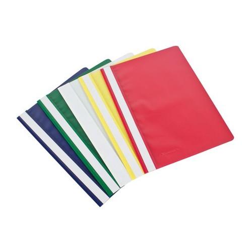 Schnellhefter A4 farbig sortiert Plastik Soenecken 2970 (PACK=10 STÜCK) Produktbild Front View L