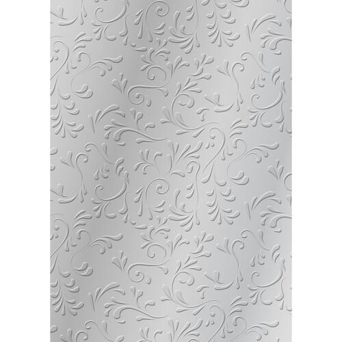 Bastelkarton Milano geprägt 50x70cm 220g silber Heyda 20-4772277 Produktbild Front View L