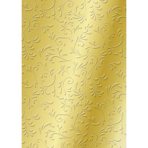 Bastelkarton Milano geprägt 50x70cm 220g gold Heyda 20-4772278 Produktbild Front View L