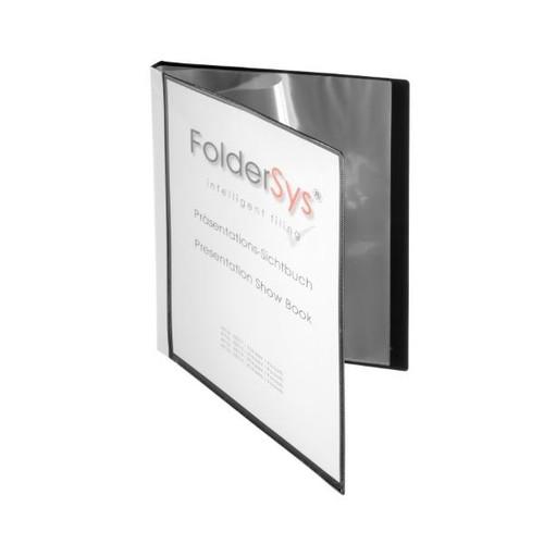 Sichtbuch mit 10 Hüllen A4 schwarz FolderSys 25011-30 Produktbild Front View L