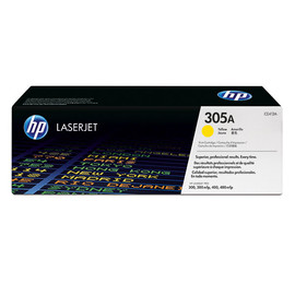 Toner 305A für HP Laserjet Pro 300/400 Color Serie 2600 Seiten yellow HP CE412A Produktbild