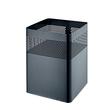 Papierkorb eckig mit Lochdekor 240x240x325mm 18l schwarz Helit H2515995 Produktbild