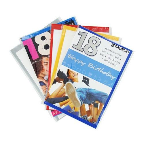 Glückwunschkarten 18. Geburtstag verschiedene Motive (PACK=5 STÜCK) Produktbild Front View L