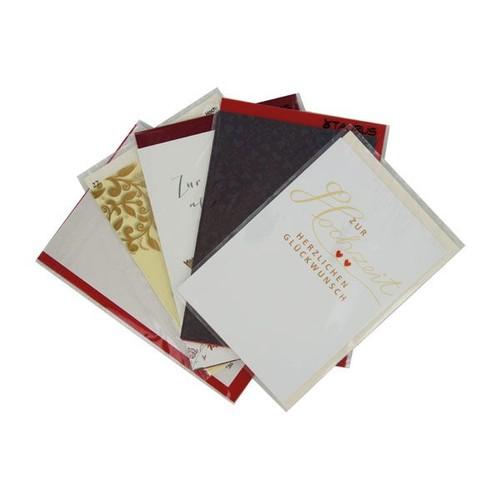 Glückwunschkarten Hochzeit Verschiedene Motive Pack 5 Stück