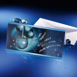 Weihnachts-Faltkarten inkl. Umschläge DIN lang 220g Miracle Sigel DS349 (PACK= JE 10 STÜCK) Produktbild