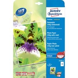 Fotopapier Inkjet Premium A4 250g weiß seidenmatt Zweckform 2559-20 (PACK=20 BLATT) Produktbild