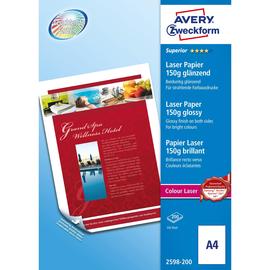Fotopapier Laser+Kopier Superior Colour A4 150g weiß beidseitig glossy Zweckform 2598-200 (PACK=200 BLATT) Produktbild