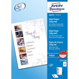 Papier Inkjet Superior A4 150g weiß matt Zweckform 2579-100 (PACK=100 BLATT) Produktbild