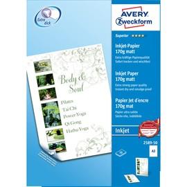 Papier Inkjet Superior A3 170g weiß beidseitig matt Zweckform 2589-50 (PACK=50 BLATT) Produktbild